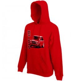 LADA 2107 kapucnis női pulóver, piros
