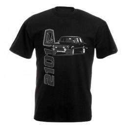 LADA 2101 férfi póló, fekete
