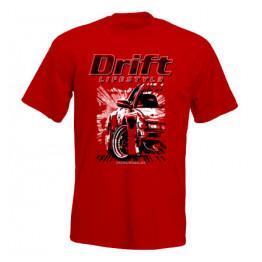 DRIFT LIFESTYLE férfi póló, piros