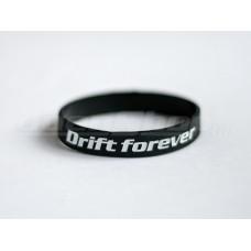 DRIFT FOREVER szilikon karkötő, fekete