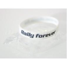 RALLY FOREVER szilikon karkötő, fehér