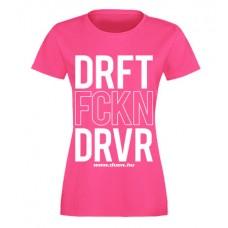 DRFT FCKN DRVR női felső, magenta (XS, L méret)