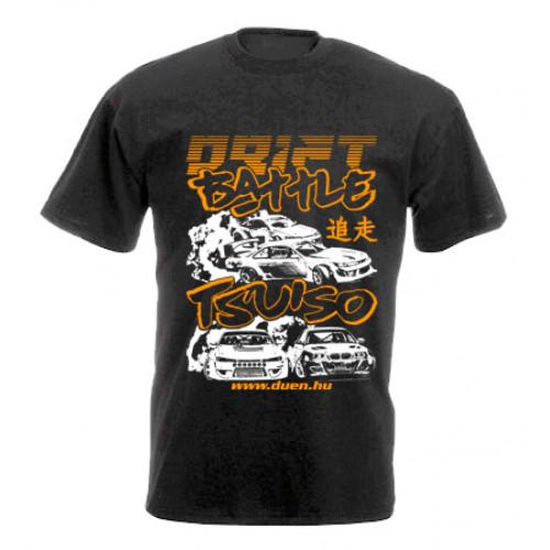 DRIFT BATTLE férfi póló, fekete