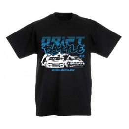 DRIFT BATTLE gyerek póló, fekete