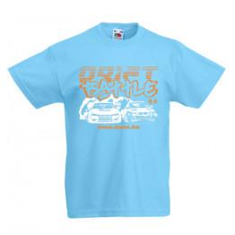 DRIFT BATTLE gyerek póló, világoskék