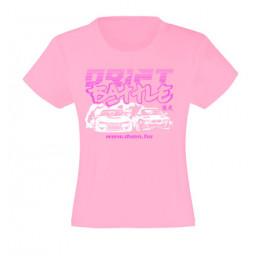 DRIFT BATTLE lány póló, rózsaszín