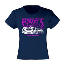 DRIFT BATTLE lány póló, sötétkék