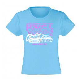 DRIFT BATTLE lány póló, világoskék