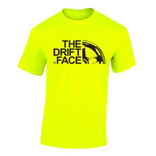THE DRIFT FACE férfi póló, neon