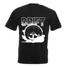 DRIFT kerék férfi póló, fekete (UTOLSÓ XL méret)