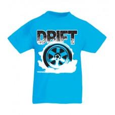 DRIFT kerék gyerek póló, azúrkék