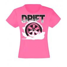 DRIFT kerék lány póló, magenta (UTOLSÓ 140-es méret)