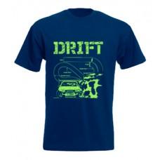 DRIFT pályarajz férfi póló, sötétkék (M, L méret)