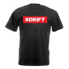 #DRIFT férfi póló, fekete