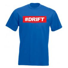 #DRIFT férfi póló, királykék