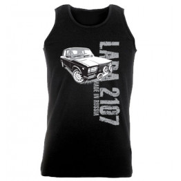 MADE IN RUSSIA Lada 2107 férfi trikó, fekete