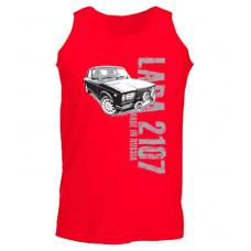 MADE IN RUSSIA Lada 2107 férfi trikó, piros