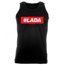 #LADA férfi trikó, fekete