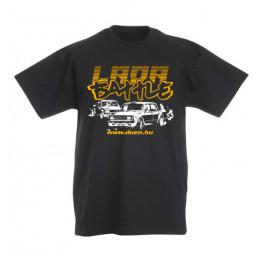 LADA BATTLE gyerek póló, fekete