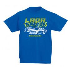 LADA BATTLE gyerek póló, királykék