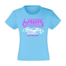 LADA BATTLE lány póló, világoskék