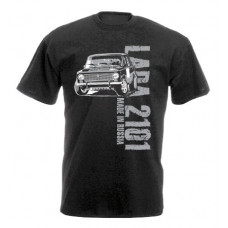 MADE IN RUSSIA Lada 2101 férfi póló,fekete