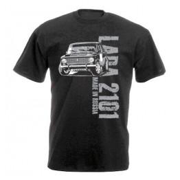 MADE IN RUSSIA Lada 2101 férfi póló, fekete