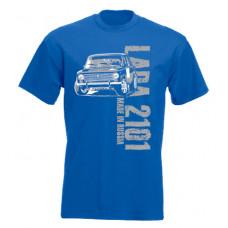 MADE IN RUSSIA Lada 2101 férfi póló, királykék