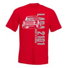 MADE IN RUSSIA Lada 2101 férfi póló, piros