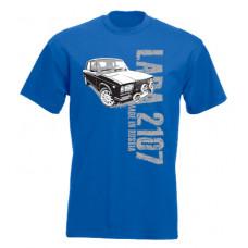 MADE IN RUSSIA Lada 2107 férfi póló, királykék