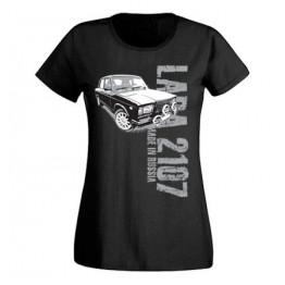 MADE IN RUSSIA Lada 2107 női felső, fekete