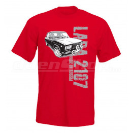 MADE IN RUSSIA Lada 2107 férfi póló, piros