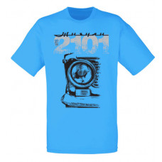 VAZ 2101 férfi póló, azúrkék