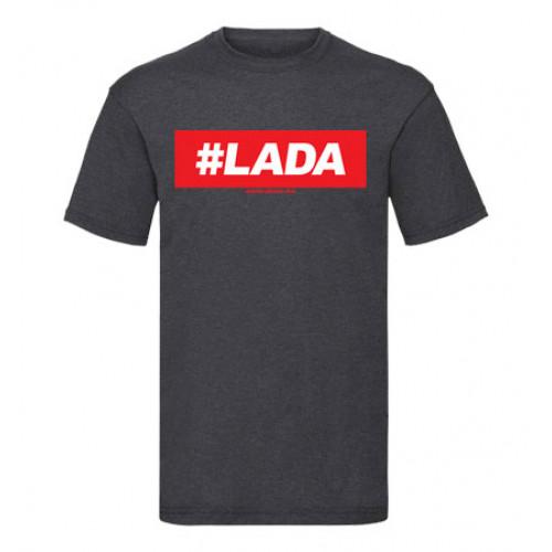 #LADA férfi póló, sötétszürke