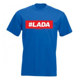 #LADA férfi póló, királykék