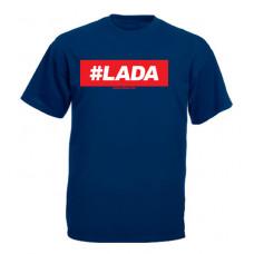 #LADA férfi póló, sötétkék