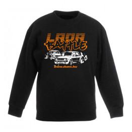 LADA BATTLE gyerek pulóver, fekete
