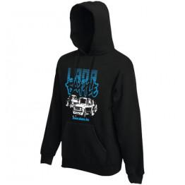 LADA VFTS gyerek kapucnis pulóver, fekete