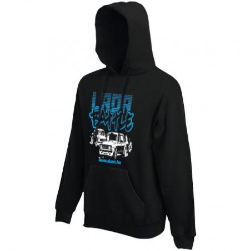 LADA BATTLE gyerek kapucnis pulóver, fekete