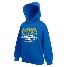 LADA BATTLE gyerek kapucnis pulóver, királykék