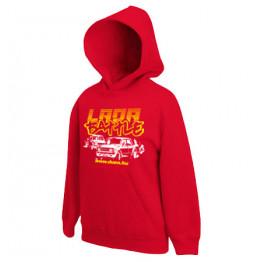 LADA BATTLE gyerek kapucnis pulóver, piros