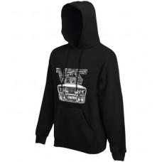 VFTS-01 kapucnis férfi pulóver, fekete