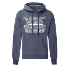 VFTS-01 kapucnis férfi pulóver, farmerkék