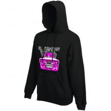 VFTS-01 kapucnis női pulóver, fekete