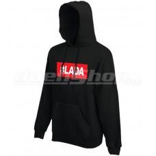 #LADA kapucnis pulóver, fekete