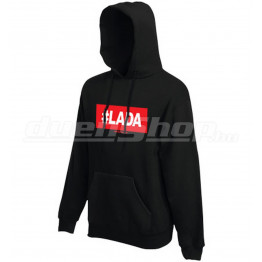 #LADA kapucnis férfi pulóver, fekete