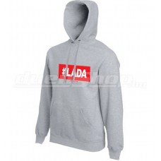 #LADA kapucnis pulóver, szürke