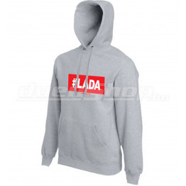 #LADA kapucnis férfi pulóver, szürke