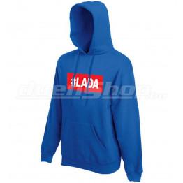 #LADA kapucnis férfi pulóver, királykék