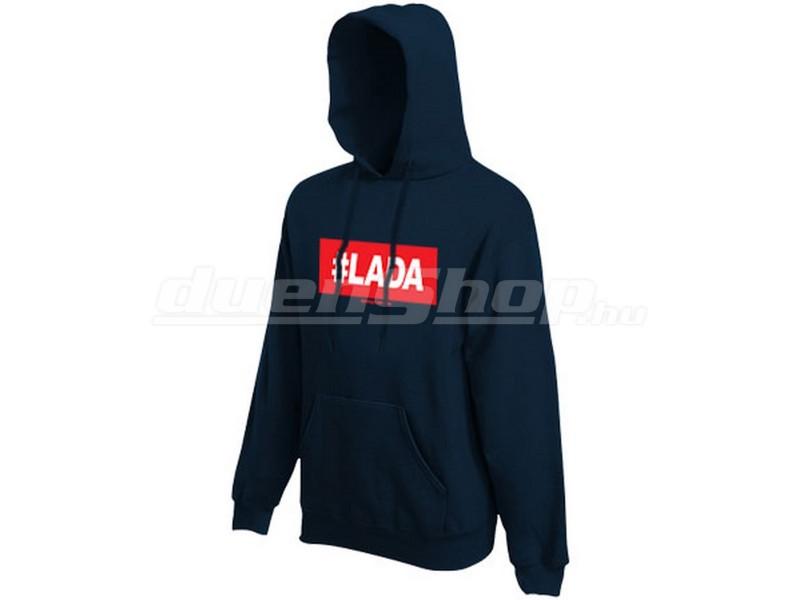 92dc848a84 LADA férfi kapucnis pulóver, sötétkék